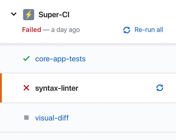 a screenshot of check runs